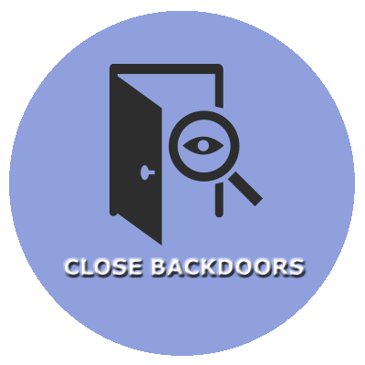CLOSE BACKDOORS